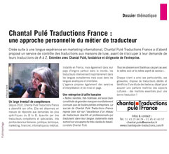 Chantal Pulé Traduction France - Article Entreprendre